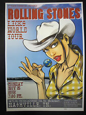 Rolling Stones Licks Tour Nashville TN 2002 Concert Poster Art Joe Whyte