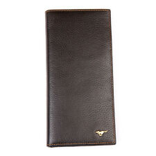 Men Cow Bifold Leather Wallet Long Credit Card Septwolves Purse brown 313231-02