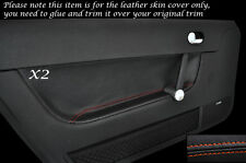 ORANGE STITCH 2X DOOR CARD TRIM LEATHER SKIN COVERS FITS AUDI TT MK1 1998-2006