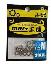 D-Stream TR01 Gun's GP Solid Ring for Jigging size M / 100lb (20pcs)