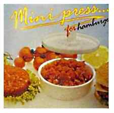 PRESSE A HAMBURGER MINI MOULE PRESSOIR A STEACK CERCLE DE PRESENTATION ALIMENT n