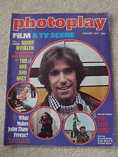 PHOTOPLAY MAGAZINE AUGUST 1978 BRUCE LEE HIS FINAL MOVIE HENRY WINKLER JOHN THAW