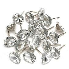 20pcs Crystal Nails Tacks Studs Pins 20mm Dia Buttons Sofa Wall Upholstery Decor