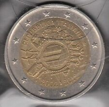 G024 Moneta Coin ITALIA: 2 euro 2012 Commemorativo Unione Monetaria Europea