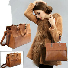European PU Leather  Handbag Shoulder Nubuck Messenger Leather Handbag Brown