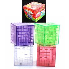 1pcs Maze Coin Box 3D Puzzle Game Gift Prize Saving Bank coin bank money boxes