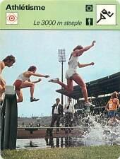 FICHE CARD: 3000 m Steeple Course d'obstacles Le Rubicon de l' Athlétisme 1970s
