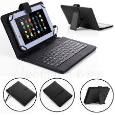 "Stand For Amazon Kindle Fire HD 7"" 2015  Leather Case Cover USB Micro Keyboard"