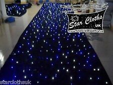 4m x 2m star cloth Black white/blue LED STATIC Starcloth 4x2 4mtr x 2mtr