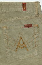 7 For All Mankind FAM Women's A Pocket Tan Corduroy Pants 27 X 32.5 USA AWESOME