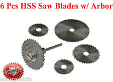 6 Pcs HSS Circular Saw Blade Set  w/ Arbor for Dremel 300 400 200 Multipro 285