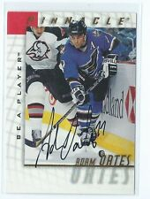 1997-98 Pinnacle BAP Be a Player Adam Oates AUTO AUTOGRAPH CAPTIALS