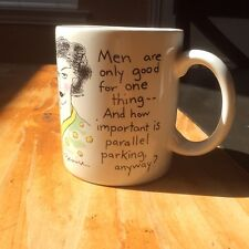 """Shoebox Greetings """"Men are only good for one thing""""  1988 Coffee Mug Cup"""