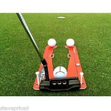 Eyeline golf putter slot trainer, practice training aid.