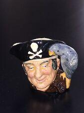 """Royal Doulton D6512 Long John Silver Character Toby Jug Mug 2 1/2"""" Tall"""