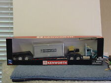 KENWORTH LOW-BOY TRAILER with BLUE TRUCK, 1/32, DIECAST, NIB