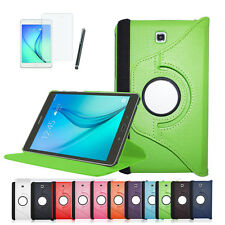 Samsung Galaxy Tab A 8.0 360° Tasche Schutz Hülle Flip Case Cover Etui + Folie