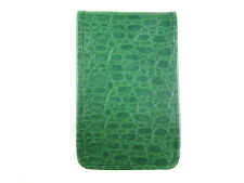 Sunfish Leather Golf Scorecard & Yardage Book Holder / Cover - Green Croc