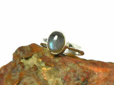 LABRADORITE    Sterling  Silver 925   Gemstone  RING  -  Size  L -  Gift  Boxed!