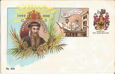 Johannes Gutenberg, 500 Jahre Buchdruck, Drucker an der Presse, Mainz, Litho-Ak