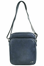 Armani Jeans Mens Faux Leather Shoulder Messenger Bag B6255 S8 L8 Blue