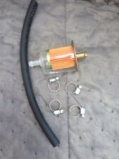 """Prime Universal 5/16"""" Plastic Fuel Filter With Hose And Clamps"""