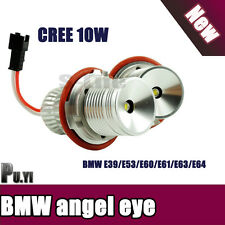 2X 10W HID White LED Angel Eyes Cree IC LED Marker Halo Ring Lights for BMW E39