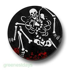 Skeleton Skull 1 Inch / 25mm Pin Button Badge Blood Emo Goth Scary Horror Evil