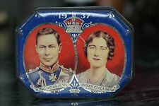 KING GEORGE 1V & QUEEN ELIZABETH CORONATION TIN 1937