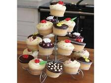 4 TIER CUPCAKE CAKE STAND SILVER PARTY WEDDING BIRTHDAY EVENT DECORATIVE 26 53