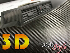 3D BLACK Air Free Carbon Fibre Vinyl 1.52m(59.8in) x 0.6m(23.6in) Wrap Car Decal