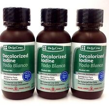 Decolorized Iodine - White Iodine - Yodo Blanco 1 Fl Oz 3 pack