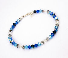 New Crystal Ocean Blue Anklet Ankle Bracelet made with Swarovski Elements