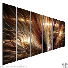 "Large Abstract Metal Wall Art ""ZION"" by Artist Ash Carl, Modern Home Décor"