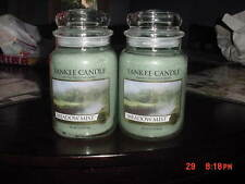 LOT of 2 Yankee Candle 22 oz Jars MEADOW MIST
