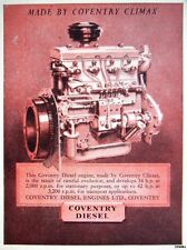 Vintage 1945 'COVENTRY CLIMAX' Diesel Engines Print ADVERT - Small Original Ad