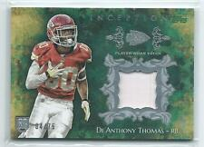 2014 Topps Inception De'Anthony Thomas GREEN PRIME PATCH RELIC RC 4/75 CHIEFS