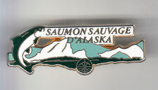 RARE PINS PIN'S .. ALIMENT FOOD PECHE FISHING SAUMON ALASKA ARTHUS BERTRAND ~CK