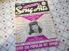 Dinah Shore Covers Song Hits Magazine February 1942