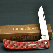 Rough Rider Red Jigged Bone 440 Stainless Linerlock Work Knife RR304 Sod Buster
