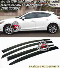 14-17 Mazda 3 4/5dr Window Rain Guard Visors (Tinted)