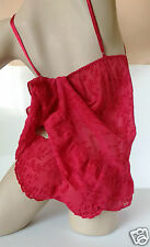 Frilly rouge jacquard babydoll avec matching scrunch briefs set uk 8/10
