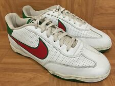 RARE�� Nike FC MEXICO White Leather Green Red Mexican Flag Sz 13 Football Club