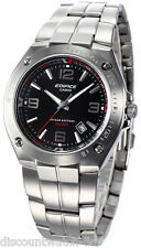 Casio Edifice EF126D-1A Mens Stainless Steel 100M Dress Watch Black Dial NEW