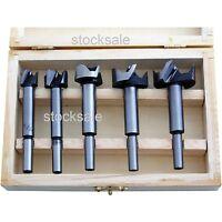 5pc Forstner Drill Bit Set Kitchen Cupboard Door Hinge 15mm 20mm 25mm 30mm 35mm