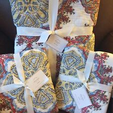 POTTERY BARN Adina FULL/QUEEN Quilt & 2 Standard Shams NEW