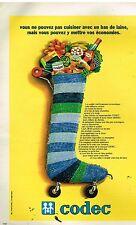 Publicité Advertising 1978 Les Magasins Codec
