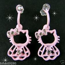 Hello Kitty oorhangers oorbellen oorringen licht rose