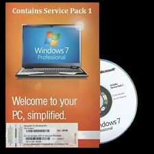 Genuine Microsoft Windows 7 Professional OS sp1 32 Bit DVD & Product Key COA