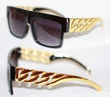 Heavy Sonnenbrille D Grandmaster Cuban schwarz gold Oldschool schwer Link 962